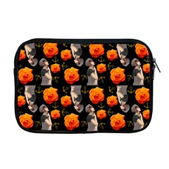Girl With Roses And Anchors Black Apple Macbook Pro 17  Zipper Case by snowwhitegirl