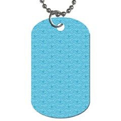 Retro Blue Pattern Dog Tag (two Sides) by snowwhitegirl