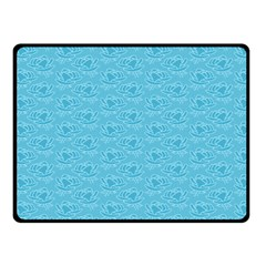 Retro Blue Pattern Fleece Blanket (small) by snowwhitegirl