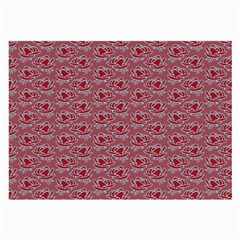 Retro Red Pattern Large Glasses Cloth