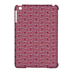 Retro Red Pattern Apple Ipad Mini Hardshell Case (compatible With Smart Cover) by snowwhitegirl