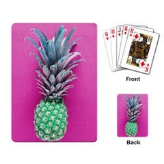 Green Pineapple Playing Cards Single Design