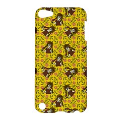 Girl With Popsicle Yellow Floral Apple Ipod Touch 5 Hardshell Case by snowwhitegirl