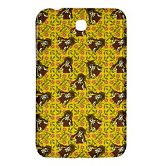 Girl With Popsicle Yellow Floral Samsung Galaxy Tab 3 (7 ) P3200 Hardshell Case  by snowwhitegirl