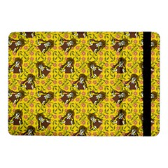 Girl With Popsicle Yellow Floral Samsung Galaxy Tab Pro 10 1  Flip Case