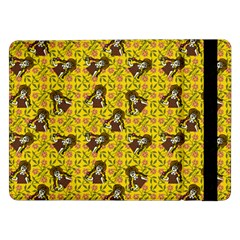 Girl With Popsicle Yellow Floral Samsung Galaxy Tab Pro 12 2  Flip Case by snowwhitegirl