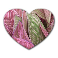 Pink Leaves Heart Mousepads by snowwhitegirl