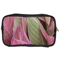 Pink Leaves Toiletries Bag (two Sides) by snowwhitegirl