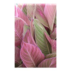 Pink Leaves Shower Curtain 48  X 72  (small)  by snowwhitegirl