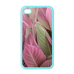 Pink Leaves Apple Iphone 4 Case (color) by snowwhitegirl