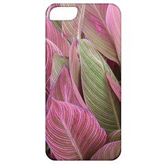 Pink Leaves Apple Iphone 5 Classic Hardshell Case by snowwhitegirl