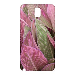 Pink Leaves Samsung Galaxy Note 3 N9005 Hardshell Back Case by snowwhitegirl
