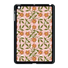 Pink Dot Floral Apple Ipad Mini Case (black) by snowwhitegirl