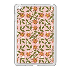 Pink Dot Floral Apple Ipad Mini Case (white) by snowwhitegirl