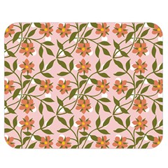 Pink Dot Floral Double Sided Flano Blanket (medium)  by snowwhitegirl