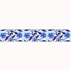 Blue Dot Floral Small Bar Mats by snowwhitegirl