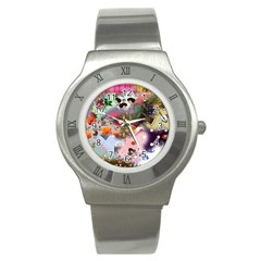 Pattern Patchwork Stainless Steel Watch