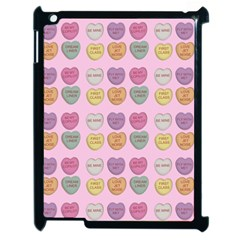 Valentine Hearts Pink Apple Ipad 2 Case (black) by snowwhitegirl