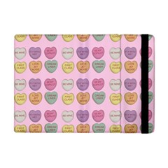Valentine Hearts Pink Apple Ipad Mini Flip Case by snowwhitegirl