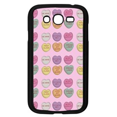 Valentine Hearts Pink Samsung Galaxy Grand Duos I9082 Case (black) by snowwhitegirl