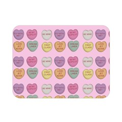 Valentine Hearts Pink Double Sided Flano Blanket (mini)
