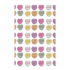 Valentine Hearts White Shower Curtain 48  X 72  (small)  by snowwhitegirl