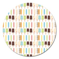 Candy Popsicles White Magnet 5  (round) by snowwhitegirl