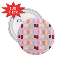 Candy Popsicles Pink 2 25  Buttons (100 Pack)  by snowwhitegirl