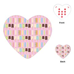Candy Popsicles Pink Playing Cards (heart) by snowwhitegirl