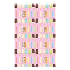 Candy Popsicles Pink Shower Curtain 48  X 72  (small)  by snowwhitegirl