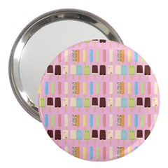 Candy Popsicles Pink 3  Handbag Mirrors
