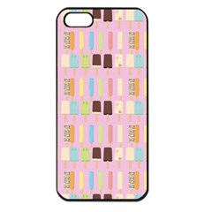 Candy Popsicles Pink Apple Iphone 5 Seamless Case (black) by snowwhitegirl