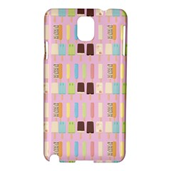 Candy Popsicles Pink Samsung Galaxy Note 3 N9005 Hardshell Case by snowwhitegirl