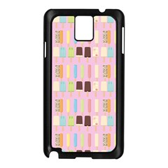 Candy Popsicles Pink Samsung Galaxy Note 3 N9005 Case (black) by snowwhitegirl