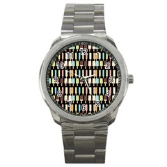 Candy Popsicles Black Sport Metal Watch by snowwhitegirl