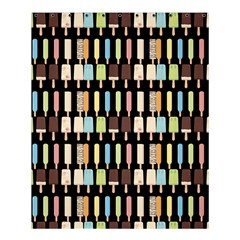Candy Popsicles Black Shower Curtain 60  X 72  (medium)  by snowwhitegirl