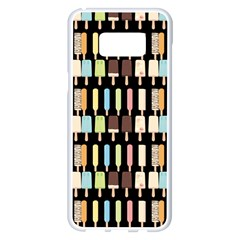 Candy Popsicles Black Samsung Galaxy S8 Plus White Seamless Case by snowwhitegirl