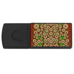 Flower Wreaths And Ornate Sweet Fauna Rectangular Usb Flash Drive by pepitasart