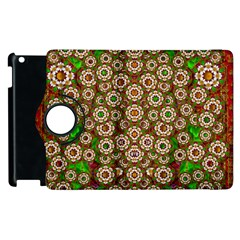 Flower Wreaths And Ornate Sweet Fauna Apple Ipad 3/4 Flip 360 Case by pepitasart