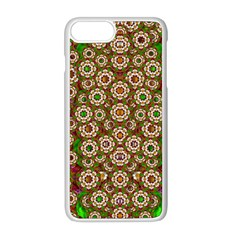 Flower Wreaths And Ornate Sweet Fauna Apple Iphone 8 Plus Seamless Case (white) by pepitasart