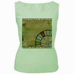 Circle Women s Green Tank Top