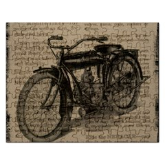 Bicycle Letter Rectangular Jigsaw Puzzl by vintage2030