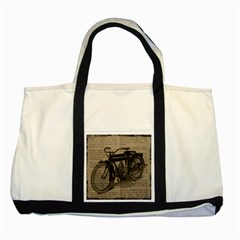 Bicycle Letter Two Tone Tote Bag by vintage2030