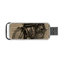 Bicycle Letter Portable Usb Flash (two Sides) by vintage2030
