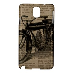Bicycle Letter Samsung Galaxy Note 3 N9005 Hardshell Case by vintage2030