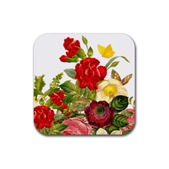 Flower Bouquet 1131891 1920 Rubber Coaster (square)  by vintage2030