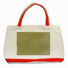 Old Letter Classic Tote Bag (red) by vintage2030