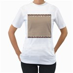 Background 1706649 1920 Women s T-Shirt (White) (Two Sided) Front