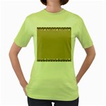 Background 1706649 1920 Women s Green T-Shirt Front