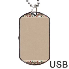 Background 1706649 1920 Dog Tag Usb Flash (two Sides)